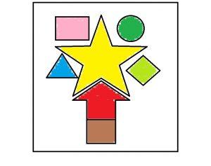 Dibujo para niños: Arbol de las formas